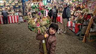 本日は大宮氷川神社で十日市(大湯祭)の本祭ですよ。暖かい装いで遊びに行きましょう。